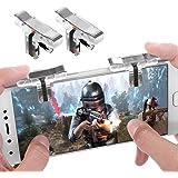 【2019年最新改善版】荒野行動 PUBG Mobile コントローラー AksBlay PUBG Mobile コントローラー 金属押しボタン 高感度 高速射撃ボタン 位置精確 操作簡単 手触り良く iPhone/Androidに対応 (2個)