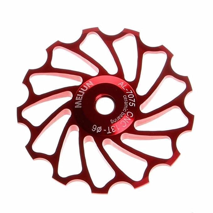 IGEMY 13T MTB - Desviador trasero para bicicleta de carretera con rodamiento de cerámica, dorado: Amazon.es: Deportes y aire libre