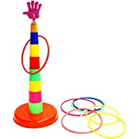 TANMAN TOYS Imported Plastic Ring Toss Quoits Hoopla Throw Game for Toddlers(Kids), for Single and Group Play