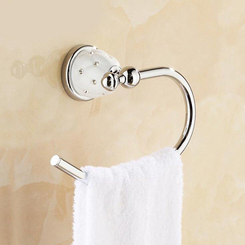 Aoligei Europeo de Cobre toallero de Anillo toallero de Anilla para baño Hardware Accesorios 22 * 13 cm C: Amazon.es: Hogar