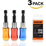 KSEIBI Universal 1/4in. Quick Release Screwdriver Bits Holder For Quick and Easy Bit Changes, Pack of 3 Piece.