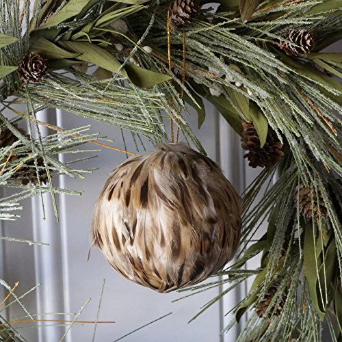 ZUCKER Large Duck Feather Christmas Ornament - Xmas Balls Decorations Fall Decor