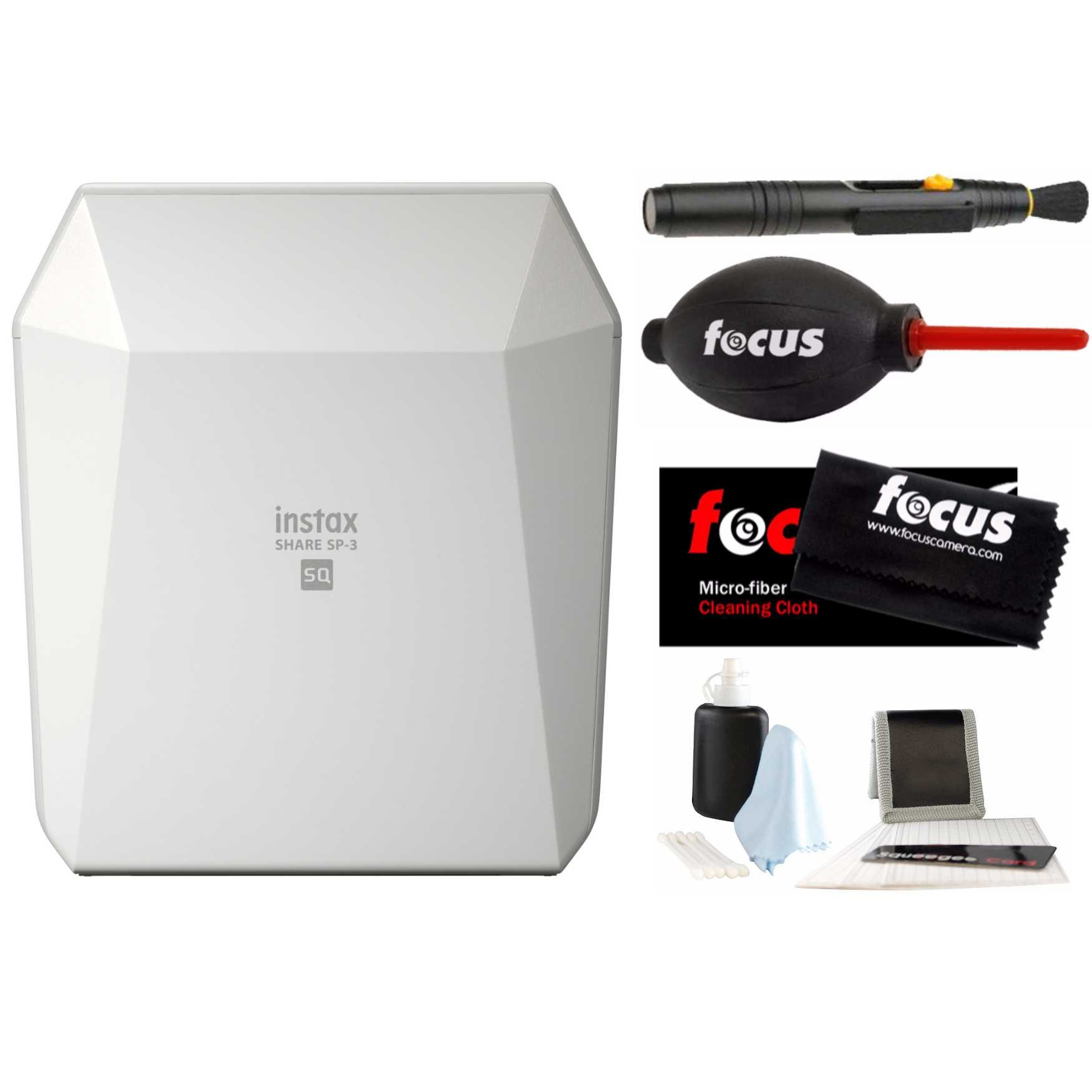 Fujifilm Instax Share SP-3 Smartphone Printer (White) w/Focus Accessory Kit