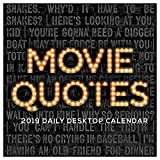 "Time Factory Movie Quotes 5.5"" x 5.5"" January -December 2019 Daily Desktop Calendar (19-3219)"