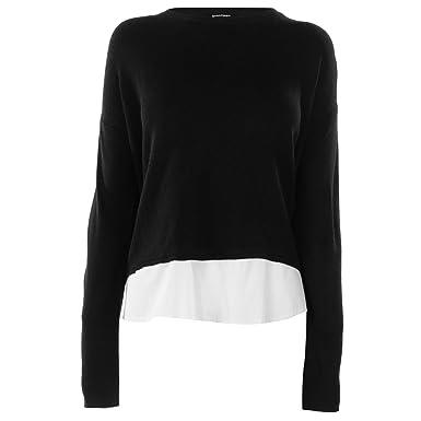 953adb5bc Golddigga Womens 2in1 Knit Top Long Sleeve Round Neck: Amazon.co.uk:  Clothing