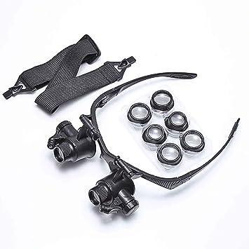 93729057c2 Koimg Lupa con Luz Led - Gafas Lupa de Aumento con Luz para  Modelismo,Reparaciones