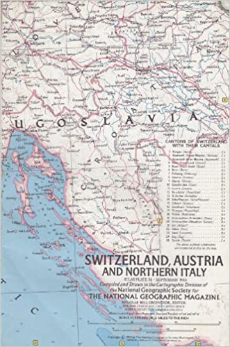 Map Of Northern Italy And Austria.Switzerland Austria And Northern Italy Map Amazon Com Books