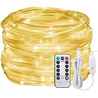 LED Lichtschlauch als Weihnachtsdeko–Afufu 10M 136er Lichterschlauch Warmweiß–Lichterkette Innen und Außen–Lichterkette USB–3M Stromkabel–Wasserdicht IP65–8 Modi Fernbedienbar Weihnachtsbeleuchtung