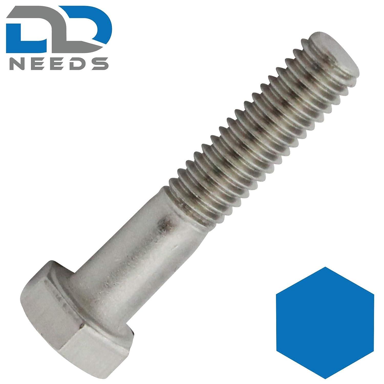 ISO 4014 en acier inoxydable A2 Lot de 10 vis /à t/ête hexagonale avec tige DIN 931 V2A