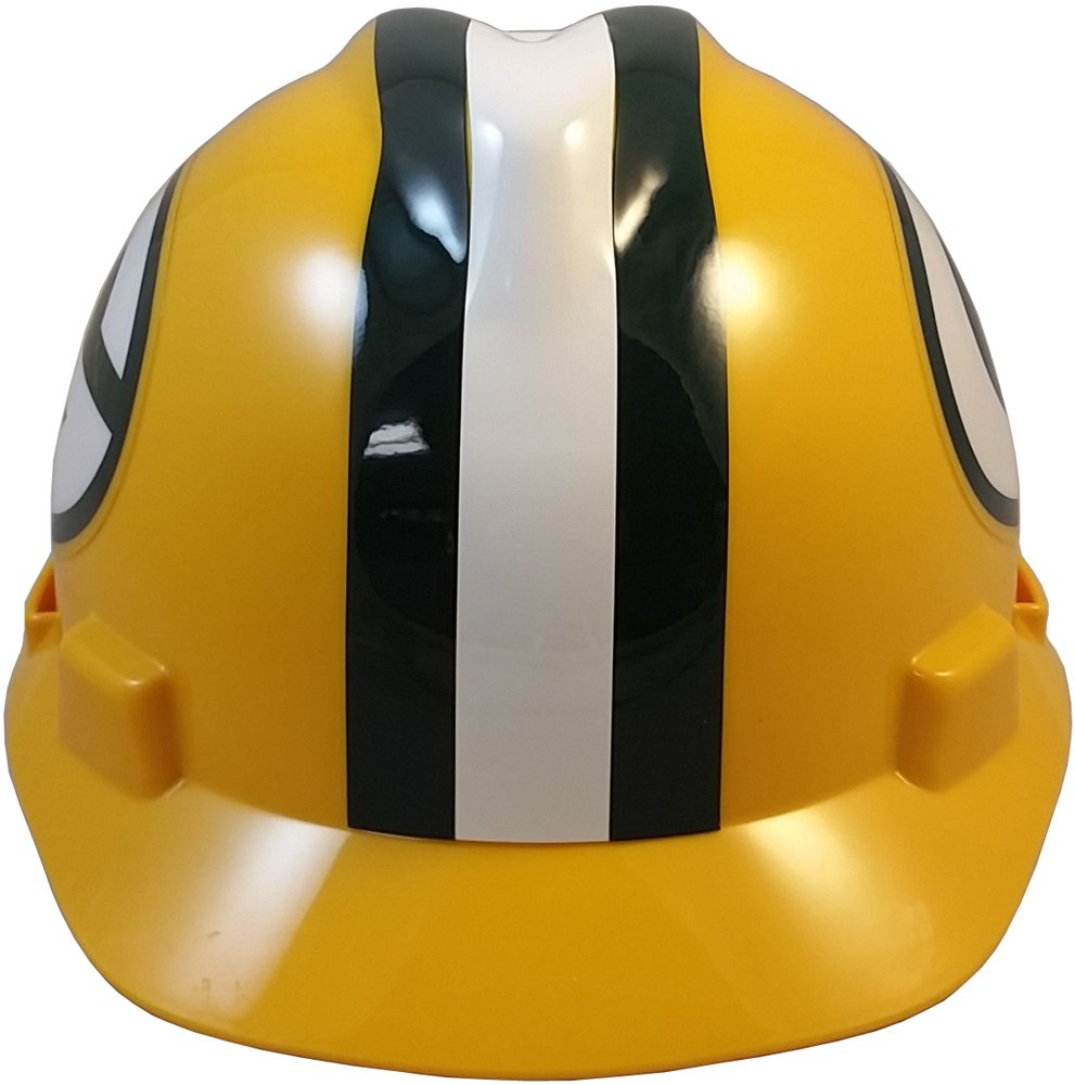MSA NFL Ratchet Suspension Hardhats - Green Bay Packers Hard Hats by MSA (Image #5)