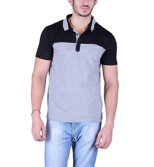 68ca49b550b Vivid Bharti Men s Check Black Grey Cotton 2 Color Half Sleeve T ...