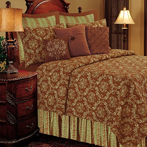 (C&F Home Windsor 2 Piece Quilt Set All-Season Reversible Bedspread Oversized Bedding Coverlet, Twin Size, Brown)