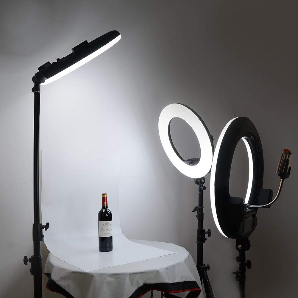 Yidoblo 96W 18'' LED Ring Lights Kit FD-480 with Makeup Mirror,Light Stand,Camera Phone Holder & Carrying Bag,Dimmable Bi-Color Lighting for Photo Studio Video Portrait Film Selfie YouTube Photography by yidoblo (Image #5)