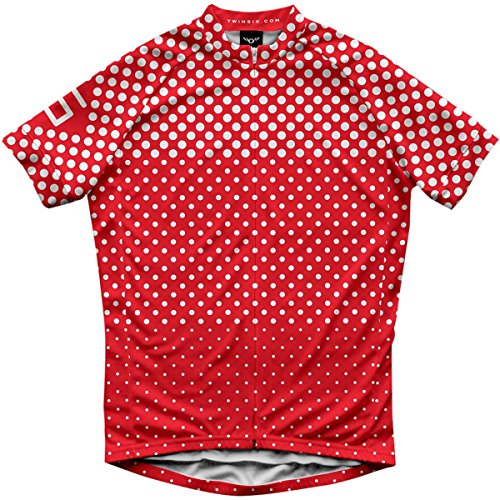 Twin Six Breakaway Jersey - Short Sleeve - Men's Brilliant Red/White, XL (Twin Six Cycling Jersey compare prices)