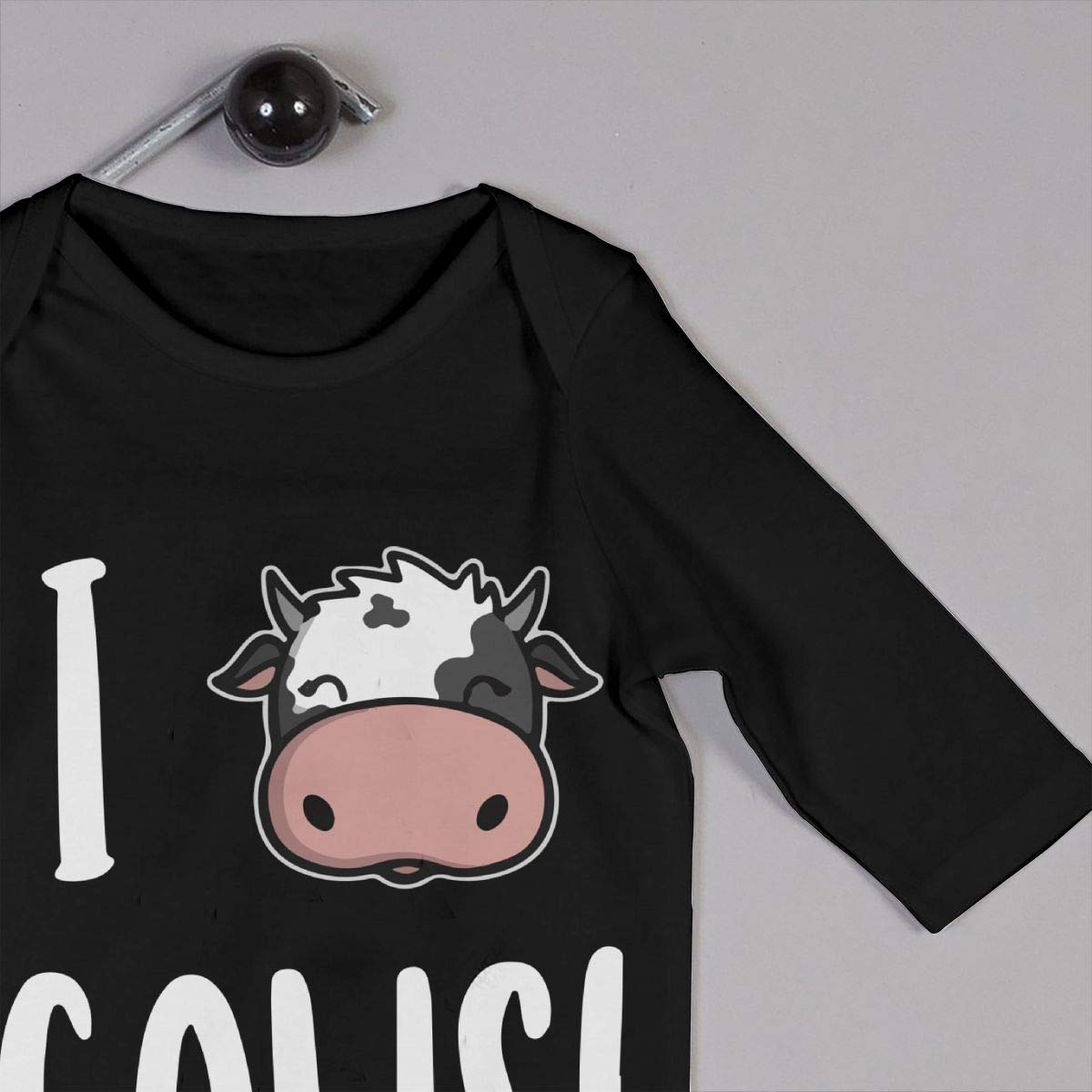 I Love Cows Baby Boy Girl Long Sleeve Romper Jumpsuit Baby Clothes Onsies