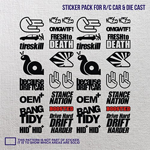 uggy jdm die cast sticker small vinyl motor chassis gauge duet grand tourer compact mini nitro pedal hella sound ()