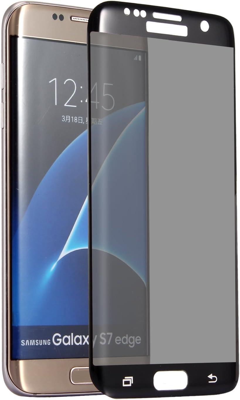 Galaxy S7 Edge Privacy Screen Protector,HYAIZLZ TM 9H Hardness 3D Tempered Glass Anti-Spy Screen Protector Shield for Samsung Galaxy S7 Edge,Color Black