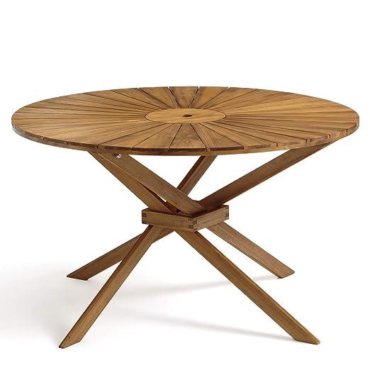 La Redoute Am.PM Table de Jardin Rond, jakta Unique Teck ...
