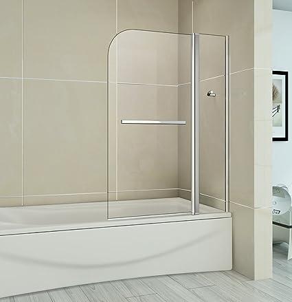 Perfect 1000x1400mm Easy Clean Glass 180 Degree Pivot Bath Shower