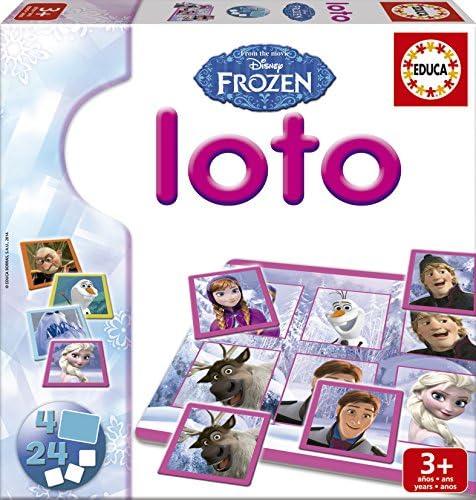 Educa Borrás Frozen - Loto, Juego de Mesa 16254: Amazon.es: Juguetes y juegos