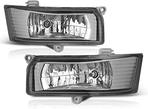 Driver /& Passenger Side Power Switch /& Universal Wiring Included VIPMOTOZ Chrome Housing OE-Style Front Fog Light Driving Lamp Assembly For 2005-2006 Toyota Camry