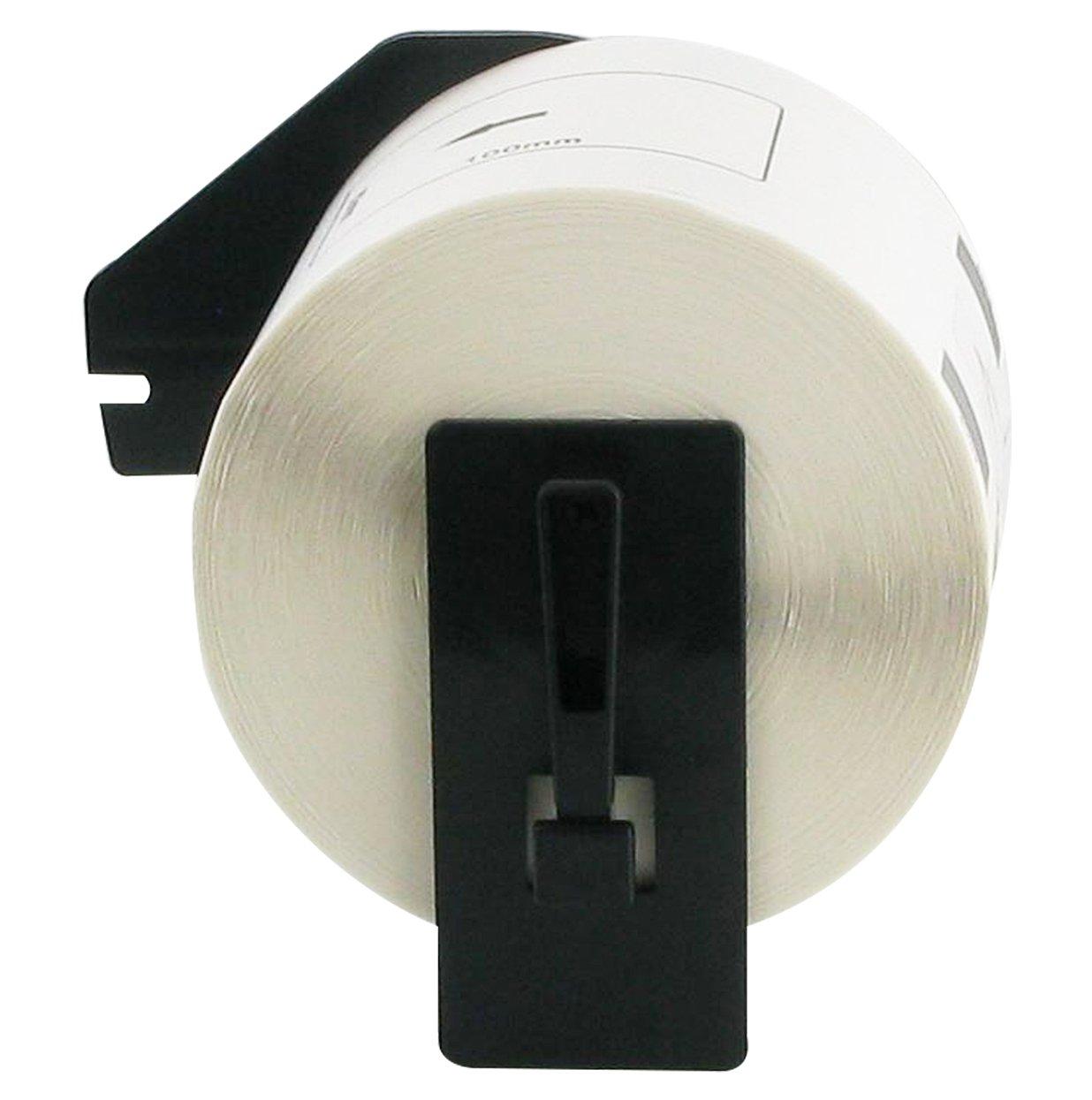 bubprint 10x RUOTE Etichette compatibile per Brother DK-11204 #1204 17 x 54mm