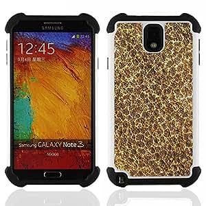 For Samsung Galaxy Note3 N9000 N9008V N9009 - Wallpaper Modern Art Foam Nature Texture /[Hybrid 3 en 1 Impacto resistente a prueba de golpes de protecci????n] de silicona y pl????stico Def/ - Super Marle