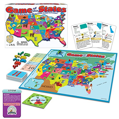 Game of The States, Can You Sell The Most From Coast To Coast? Game Board Game (Board State Game)