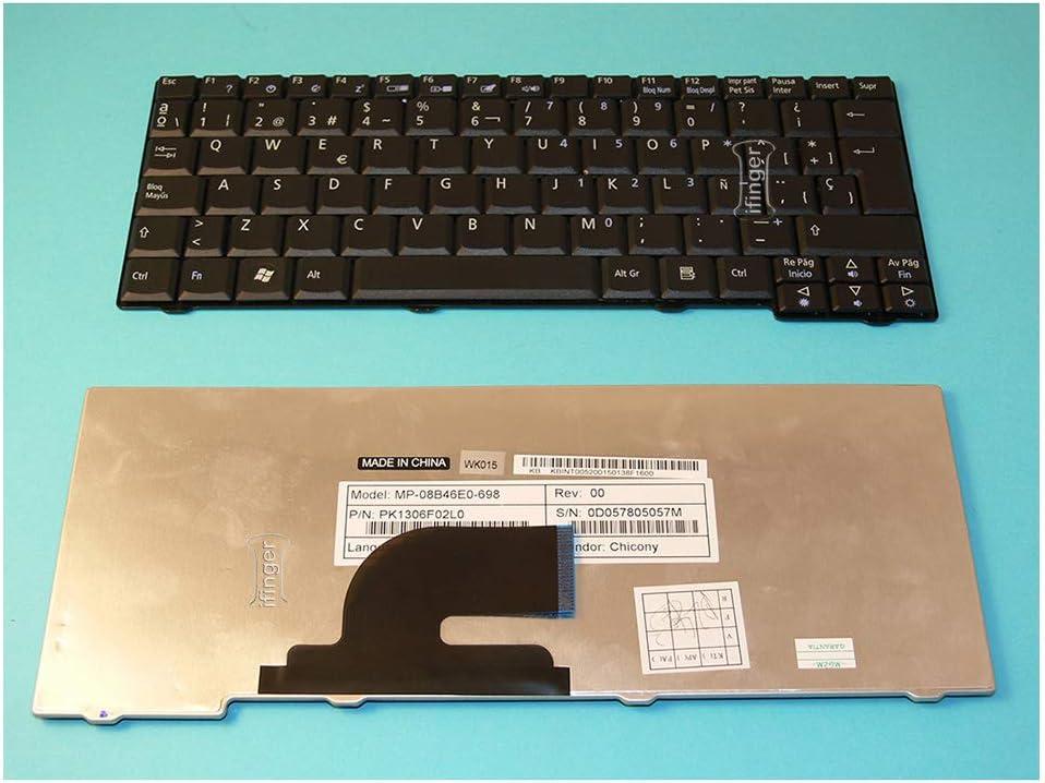 IFINGER Teclado Compatible DE Y para PORTATIL Acer Aspire One D150-1B EN ESPAÑOL Nuevo Negro Ver Foto
