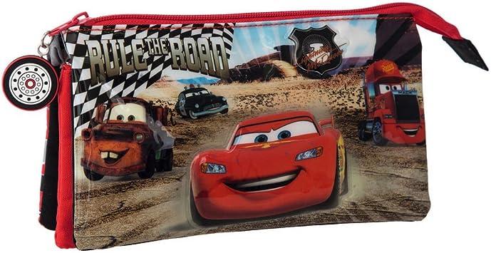 Disney Cars Rayo Estuche de Tres Compartimentos, Color Rojo: Amazon.es: Equipaje