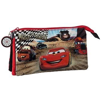 Cars Trousse 3 compartiments Cars Noir tnO3e