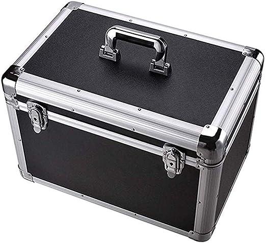 INTER FAST Caja de Almacenamiento portátil de Aluminio con Cerradura Engrosada Cubierta de Almacenamiento Caja de Almacenamiento Caja de Madera Casa Extra Grande: Amazon.es: Hogar