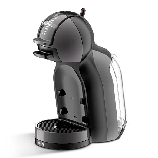 Pack Krups Dolce Gusto Mini Me KP1208 - Cafetera de cápsulas, 15 bares de presión, color negro y gris + 3 packs de café Dolce Gusto Espresso Intenso: ...