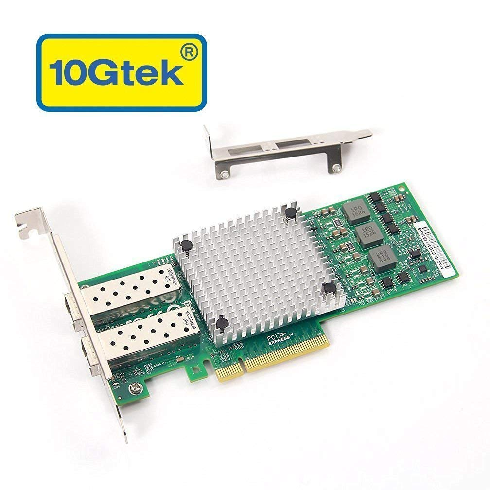 10Gb PCI-E NIC Network Card, with Broadcom BCM57810S Chipset, Dual SFP+ Port, PCI Express Ethernet Lan Adapter Support Windows Server/Windows/Linux/VMware by 10Gtek