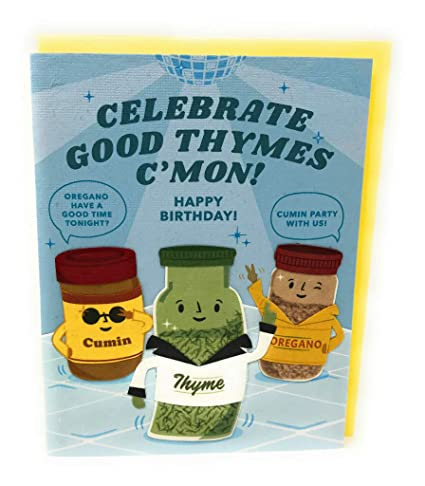 Happy Birthday Celebration Thyme Cooking Spices Play On ...