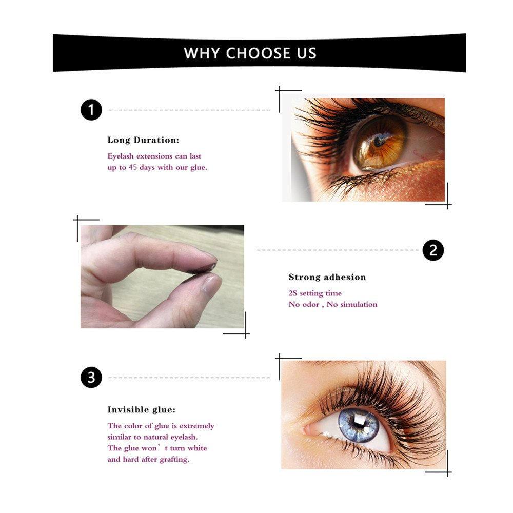 Amazon Zwellbe Extra Strong 5ml Eyelash Extension Glue 1 2 Sec