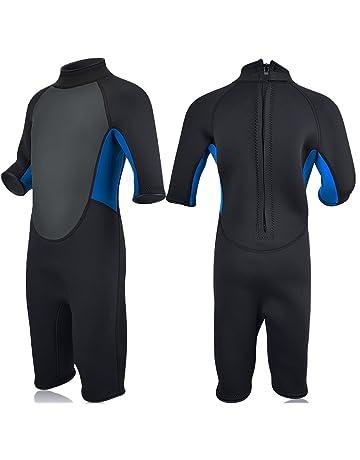 Realon Kids Wetsuit Shorty Full 3mm Premium Neoprene Lycra Swimsuit Toddler  Baby Children and Girls Boys 81efdf10e