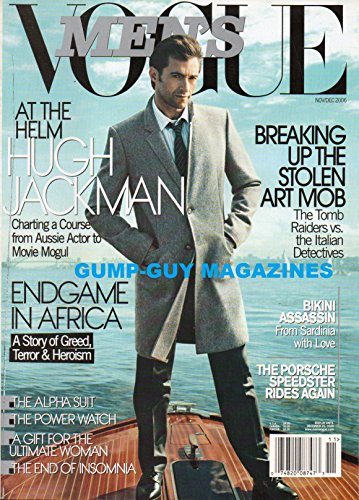 Men's Vogue Magazine Nov/Dec 2006 Vol. 2 No. 3 (HUGH JACKMAN, Vol. 2 No. (Aussie Bikini)