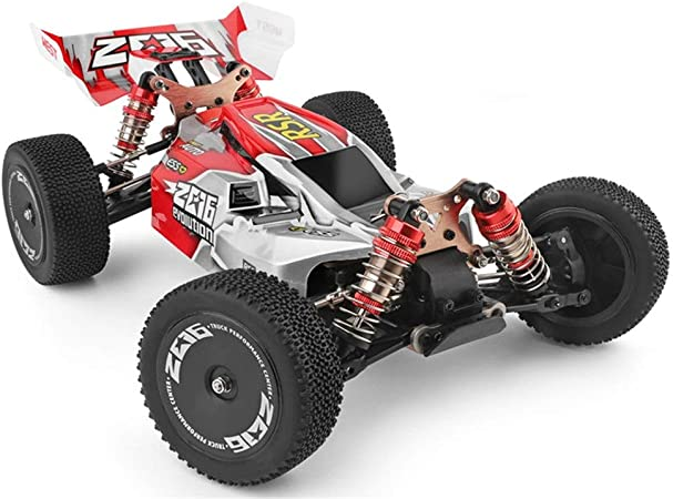 Ocamo 144001 Modellino auto telecomandata WLtoys 144001 1//14 passeggino fuoristrada Colore: rosso 2,4 G 60 km//h 4 ruote