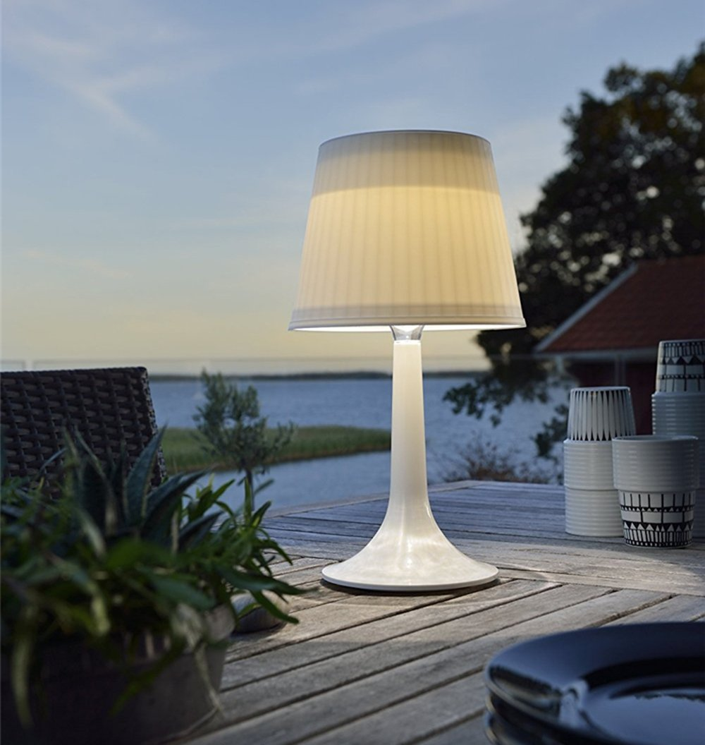 LED Solar Table Lamp Desk Lamp White Night Lights Indoor Outdoor Table Lights White