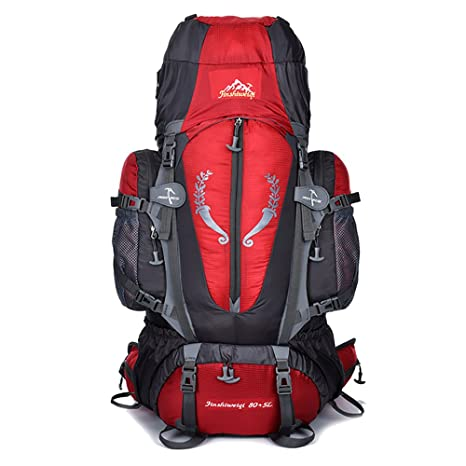 Mickeyattraction 5000 80L Hiking Internal Frame Backpack with Support for Outdoor  Hiking Travel Climbing Camping Waterproof Mountrain Top Mountaineering Bag 848b49becacaf