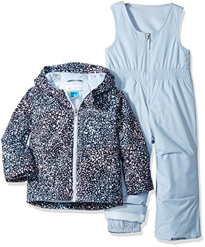 Columbia Toddler Girls' Frosty Slope Set, Faded Sky Snow Splatter, (Toddler Snowsuits)