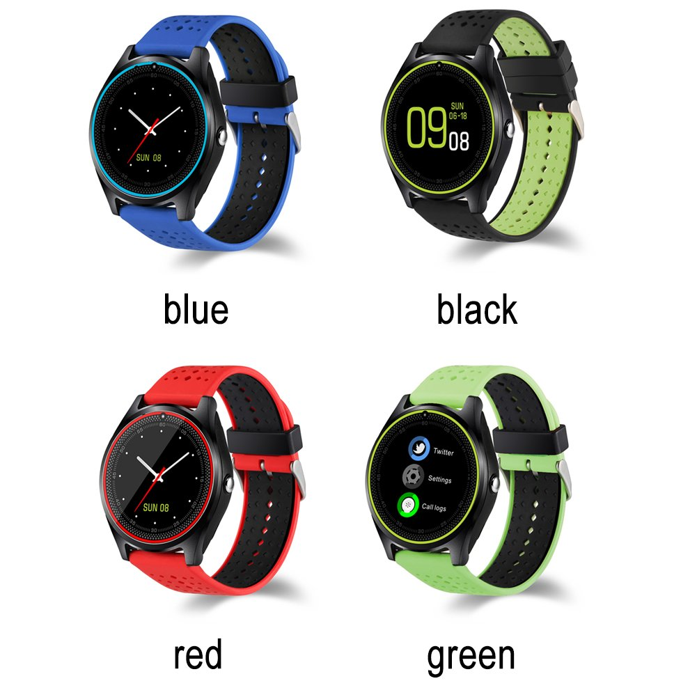 Smart Watch, Hinmay V9 Bluetooth Smartwatch Pantalla Táctil ...