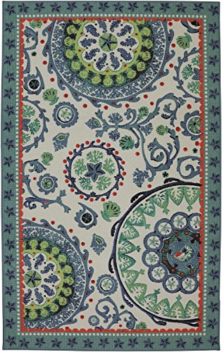 Mohawk Home Escape Sea Findings Suzani Multi Rug, 8'x10'- Family Room Ideas - Make quick & easy changes to any room in your home in minutes by changing the rug - add color & patterns