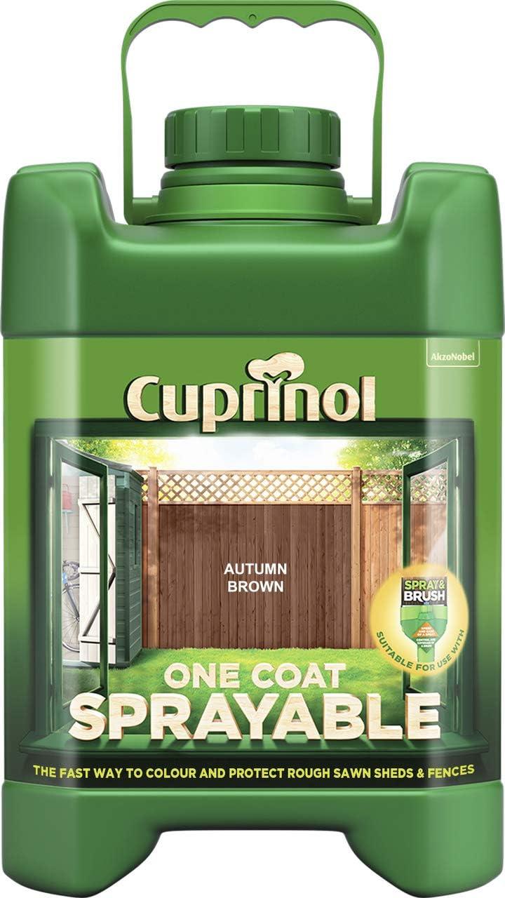 Cuprinol 5L Spray Fence Treatment - Autumn Brown