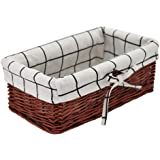 HD Wicker Storage Basket, Rectangular Storage Basket,Natural and Decorative, Arts and Crafts. (Brown)