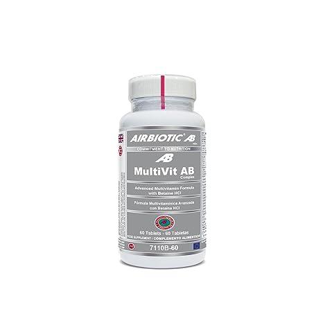 Airbiotic AB - MultiVit AB Complex - 60 tabletas. Multivitaminas para la vida diaria