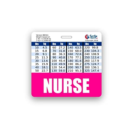 Amazon Nurse Badge Buddy Horizontal W Height Weight