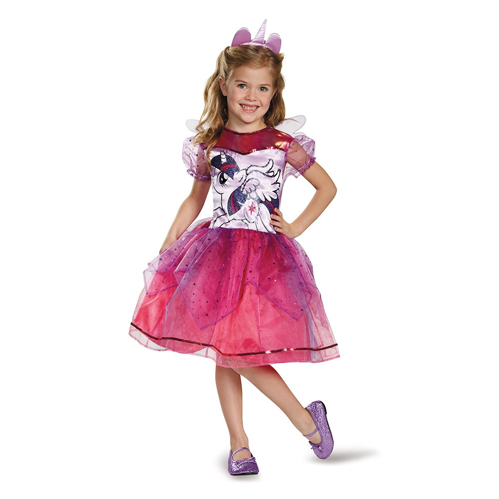 Disguise 83332K Twilight Sparkle Deluxe Costume, Medium (7-8) by Disguise