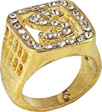 Adult Fancy Dress Party Costume Accessory Jewellery Gangster Big Daddy Ring
